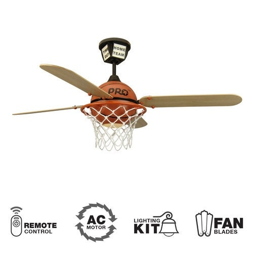 Craftmade prostar basketball youth fans 52 4 blade indoor ceiling craftmade prostar basketball youth fans 52 4 blade indoor ceiling fan blades remote and light kit included free shipping today overstock mozeypictures Images