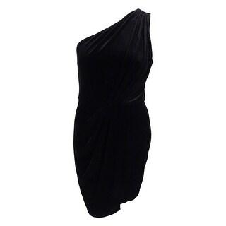 BCBGeneration Women's Velvet One Shoulder Dress - Black