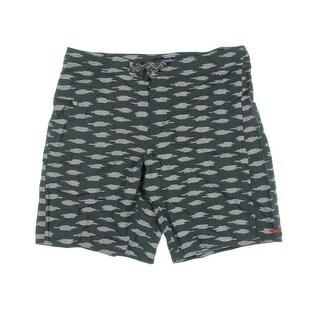 Patagonia Mens Wavefarer Printed Regular Fit Board Shorts - 38