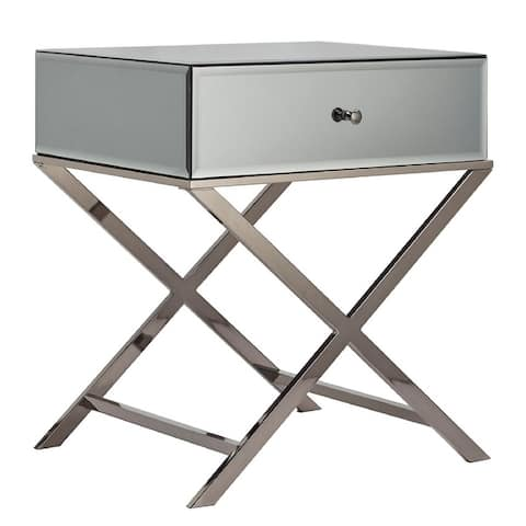 Camille X Base Mirrored Accent Campaign Table by iNSPIRE Q Bold - Accent Table