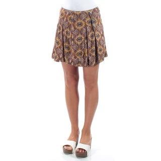 FREE PEOPLE $128 Womens New 1139 Blue, Green Geometric A-Line Skirt 0 B+B