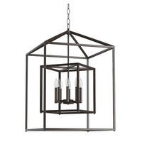 """Park Harbor PHPL5118 24"""" Wide 8-Light Pendant with Cage Style Frame"""