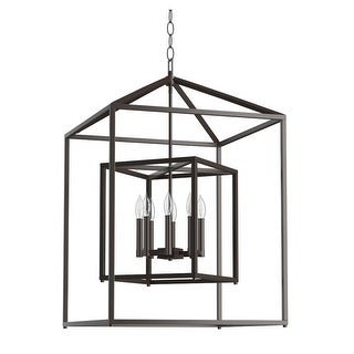 "Park Harbor PHPL5118 24"" Wide 8 Light Chandelier with Cage Style Frame"