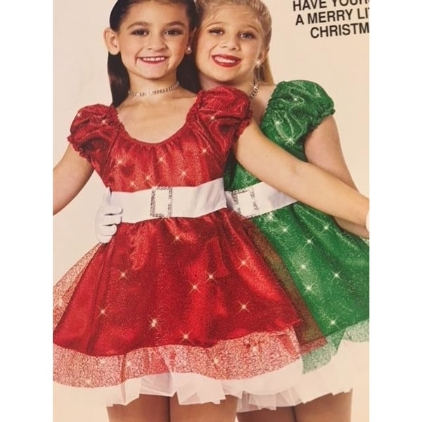 8dd937cdbd Christmas Dance Costume Red Dress Pageant