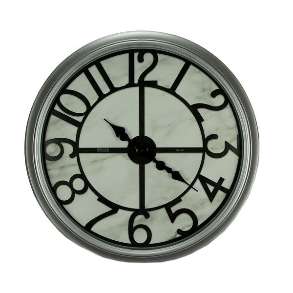 Round Bevel Frame Oversize Wall Clock 30 Inch - 30 X 30 X 3 inches