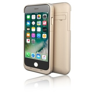 Indigi® Slim Rechargeable External Battery Case - High Capacity 4000mAh - Gold - iPhone 7 plus