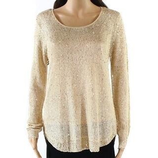 Catherine Malandrino NEW Beige Women's Size XL Scoop Neck Sweater