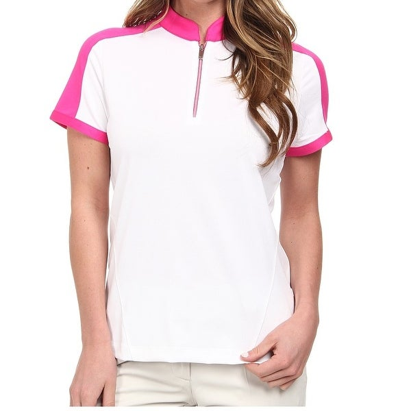3d788c26430ef Shop Tall NEW White pink Colorblocked Women s Size XS Polo Shirt - Free  Shipping On Orders Over  45 - Overstock.com - 18365869