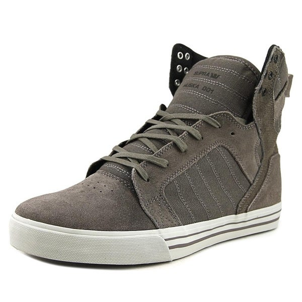 Supra Skytop Men Round Toe Suede Gray Skate Shoe