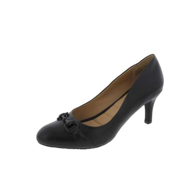 Me Too Womens CELESTE14 Suede Pointed Toe Classic Pumps, Black, Size 9.5