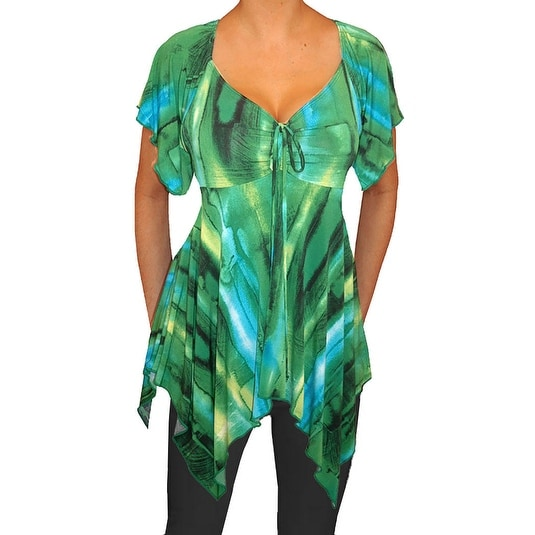 98382a74fe15 Shop Funfash Plus Size Women Emerald Green A Line Blouse Shirt Made in USA  - Free Shipping Today - Overstock.com - 12174501