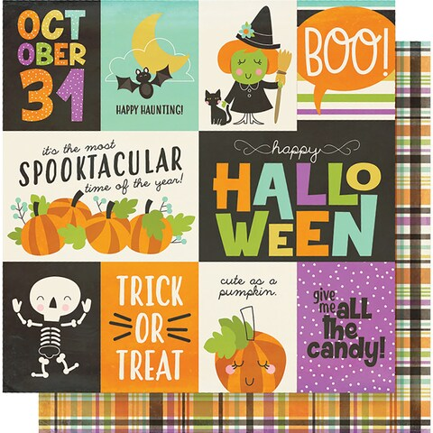 """Simple Sets Happy Halloween Double-Sided Cardstock 12""""X12""""-Elements"""