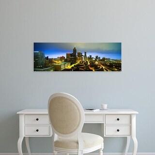 Easy Art Prints Panoramic Images's 'Evening Atlanta GA' Premium Canvas Art