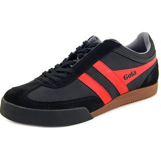 Gola Harrier Men Round Toe Canvas Black Sneakers