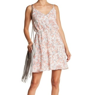 Soprano Womens Large V-Neck Floral Print Sheath Dress