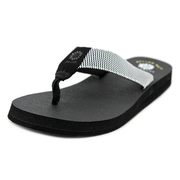 Yellow Box Jinx   Open Toe Canvas  Thong Sandal