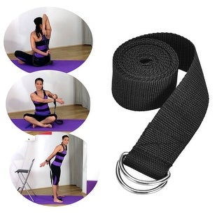 """72 """" Yoga Strap Exercise Stretch Band w/ D-Rings Flexibility Strength Aid Two Color"""