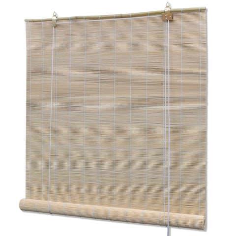 "vidaXL Roller Blind Bamboo 31.5""x86.6"" Natural"