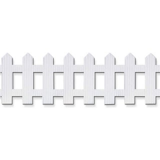 Picket Fence Roll 6X16 White