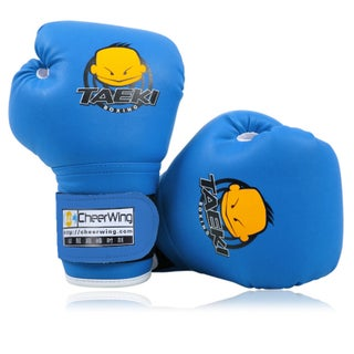 PU Leather Kids Children Cartoon Sparring dajn Boxing Gloves Training Age 5-10 Red/Blue