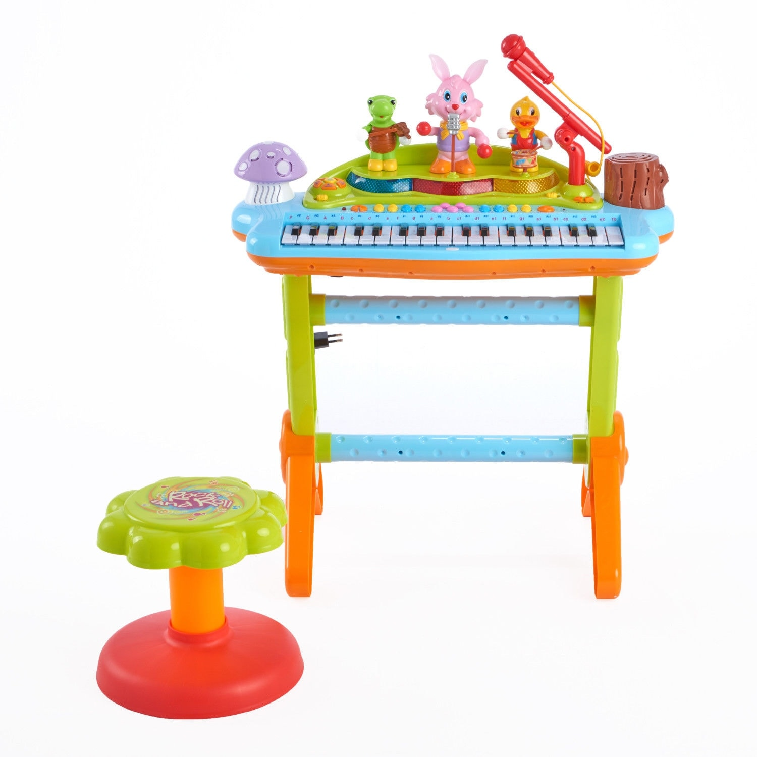 Huile Kids Play Musical Electronic Keyboard Piano Microphone Toy