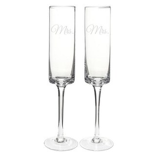 Cathys Concepts Mrs. & Mrs. Contemporary Toasting Flutes - Set of 2