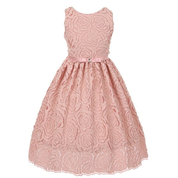Shop Chic Baby Girls Pink Floral Lace Sleeveless Special Occasion Dress - Free  Shipping Today - Overstock - 18174734 dd9bab714e93