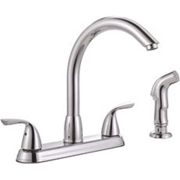 Sanibel Two Handle Kitchen Faucet With Side Spray Chrome Free