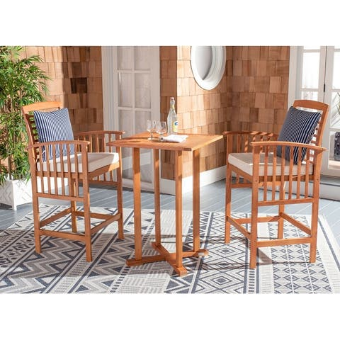 Safavieh Outdoor Living Pate 3Pc Bar Height Bistro Set