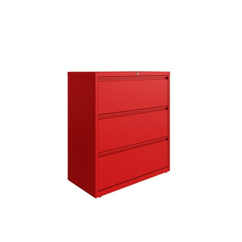 Hirsh 36 in Wide, 3 Drawer, HL8000 Series, Lava Red
