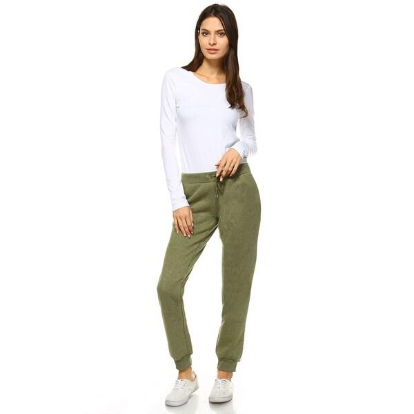 Fleece Sweatpants - Olive Green. Opens flyout.