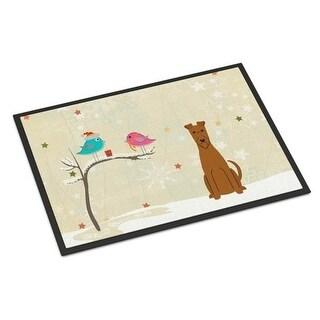 Carolines Treasures BB2534JMAT Christmas Presents Between Friends Irish Terrier Indoor or Outdoor Mat 24 x 0.25 x 36 in.