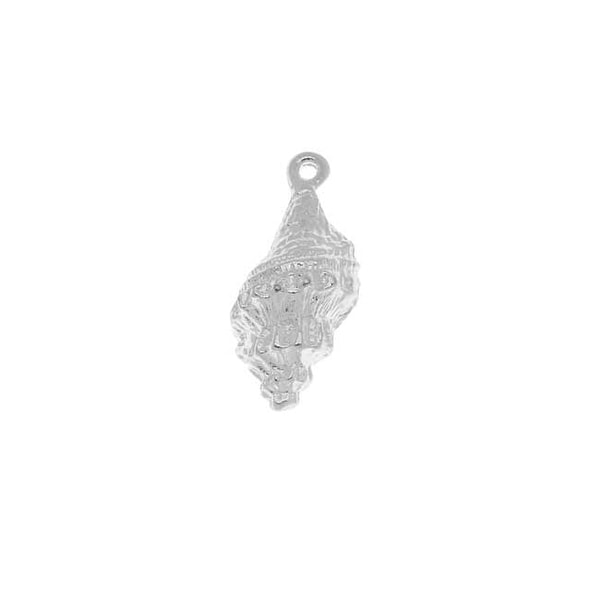 Nunn Design Silver Plated Spindle Shell Charm 21.5mm (1)