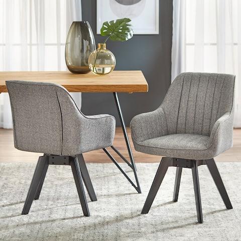Lifestorey Phyllis Swivel Chair (Set of 2)