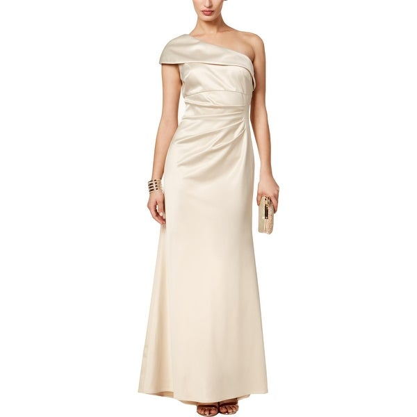 Shop Vince Camuto Womens Evening Dress Satin One-Shoulder - 4 - Free  Shipping Today - Overstock.com - 27102864 778e80a490