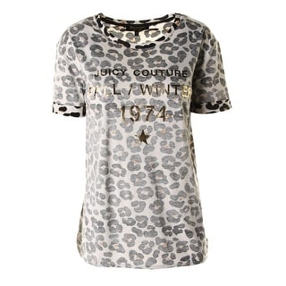 Juicy Couture Black Label Womens Modal Blend Interior Printed Graphic Tee