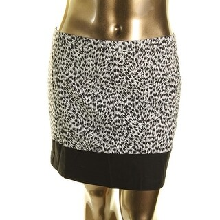 MICHAEL Michael Kors Womens Leopard Print Colorblock Mini Skirt