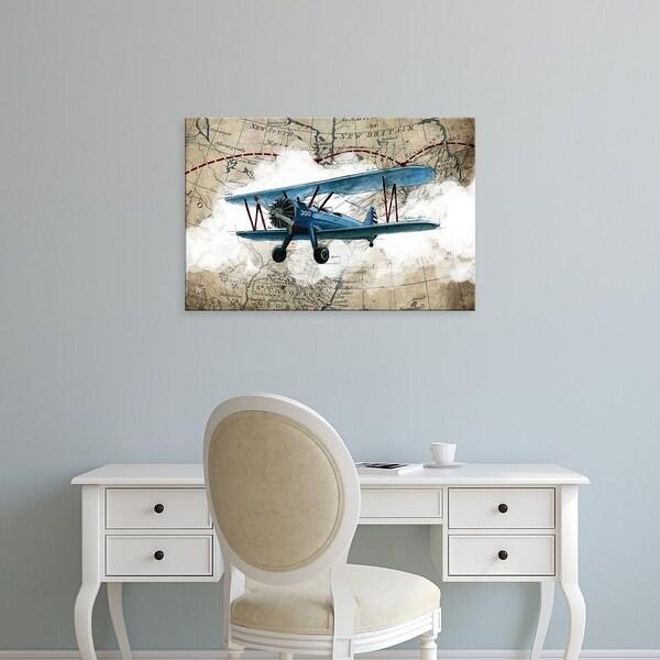 Easy Art Prints GraphINC Studio's 'Biplane 1' Premium Canvas Art