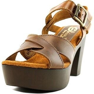 Sbicca Blackwell Women  Open Toe Leather Tan Platform Sandal