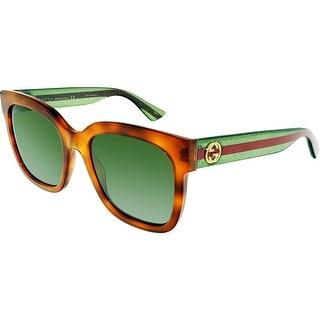 Gucci GG0034S-003-54 Brown Square Sunglasses