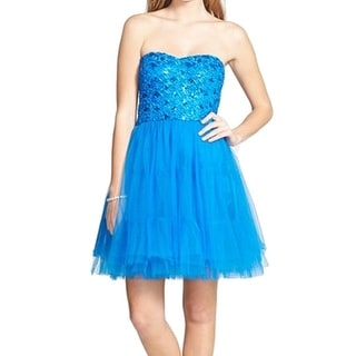 a. drea NEW Blue Women's Size Small S Lace-Up Back Party Dress