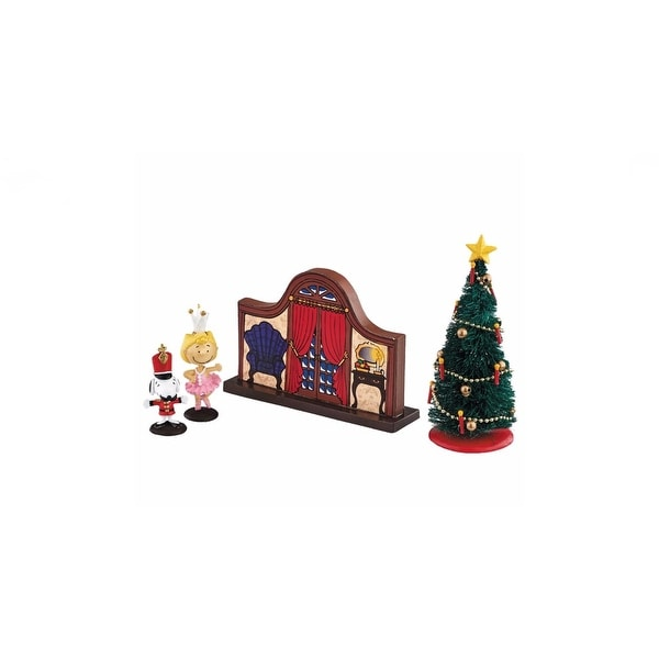 "Department 56 Peanuts Village 4-Piece ""Nutcracker"" Figurine Set #4041748"