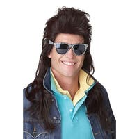 California Costumes 80's Rock Mullet Costume Wig (Brown) - Brown
