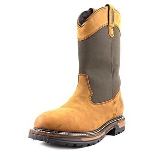 Rocky Ride Wellington Men W Steel Toe Leather Brown Work Boot