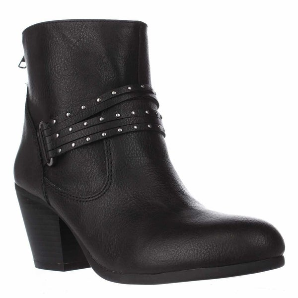 Aerosoles Longevity Studded Ankle Booties, Black