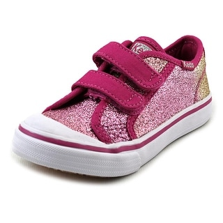 Keds Hello Kitty Glittery-Kitty Round Toe Canvas Sneakers