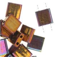 Miyuki Tila 2 Hole Square Beads Gold Iris 7.2 Grams