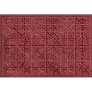 843550023 Water Guard Star Quilt Mat in Red/Black - 2 ft. x 3 ft.