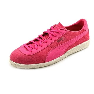 Puma Brazil MMQ Men Round Toe Suede Pink Sneakers