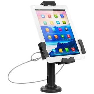 Mount-It! Secure Universal Tablet POS Kiosk with Wall Bracket Add-on  - Locking Tablet Stand with Adjustable Clamp